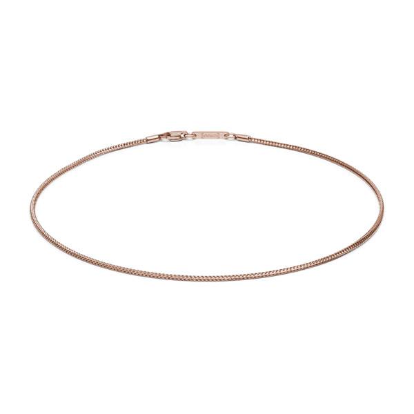 Halskette 1,5 mm stark Edelstahl rosegold farben MONOMANIA