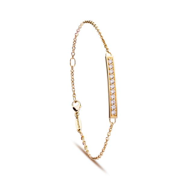 Silver Trends Armkette City Glam gelbgoldf. - ST1324