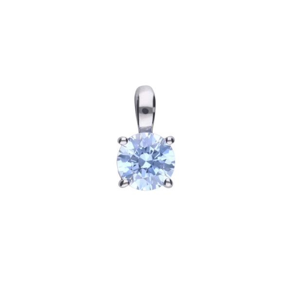 Anhänger mit Zirkonia hellblau Silber Diamonfire