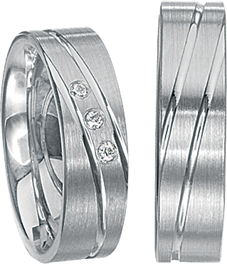 Freundschaftsringe 925 Silber mit echten Brillanten S59