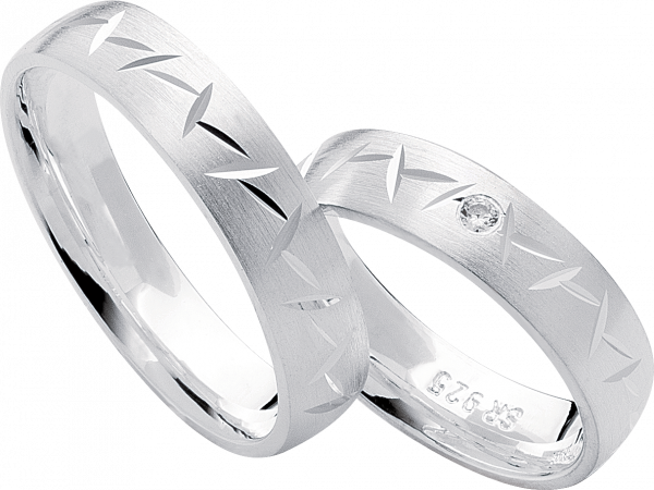 Freundschaftsringe 925 Silber mit Zirkonia S16