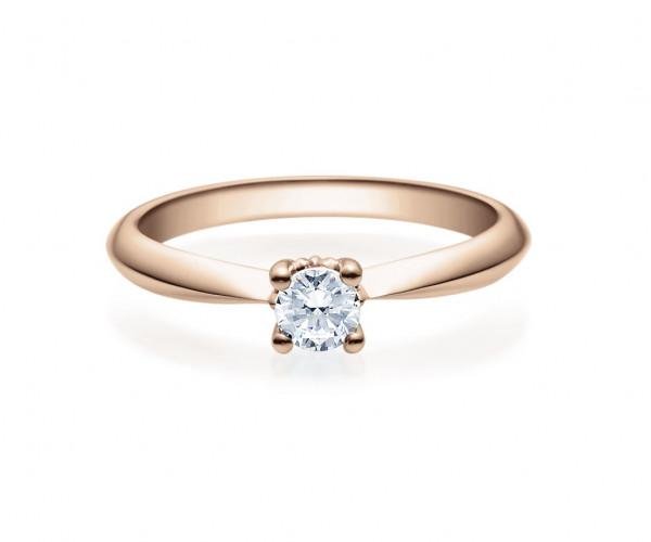 Verlobungsring Viertelkaräter Brillant 585 Rotgold