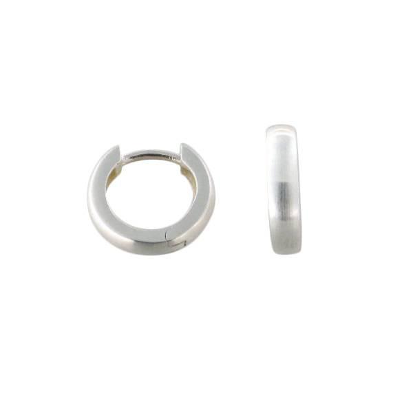 Creolen 925 Silber schlicht 2 mm stark