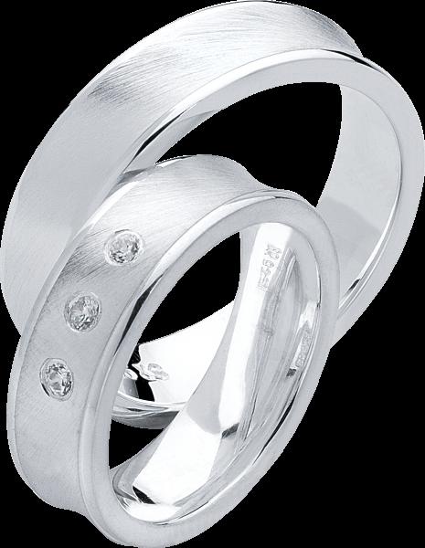 Freundschaftsringe 925 Silber mit Zirkonia S24