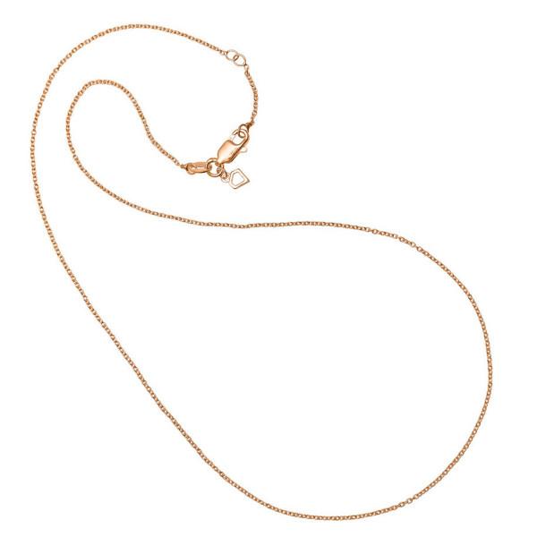 Ankerkette 925 Silber rosegold vergoldet ca. 0,7 mm stark 69/0054/1/090