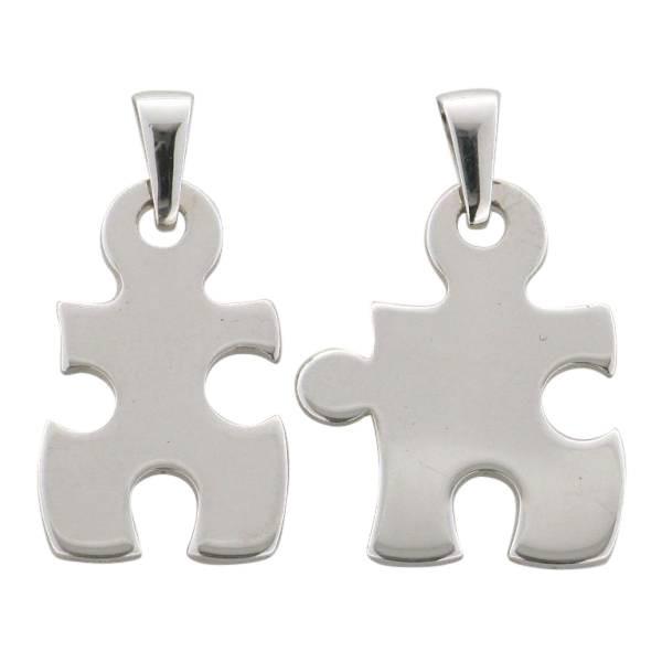 Partner Anhaenger Puzzleteile 925 Silber rhodiniert