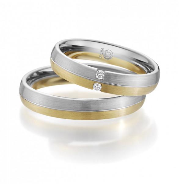 Trauringe 585 Gelbgold Weissgold Eheringe Hochzeitsringe