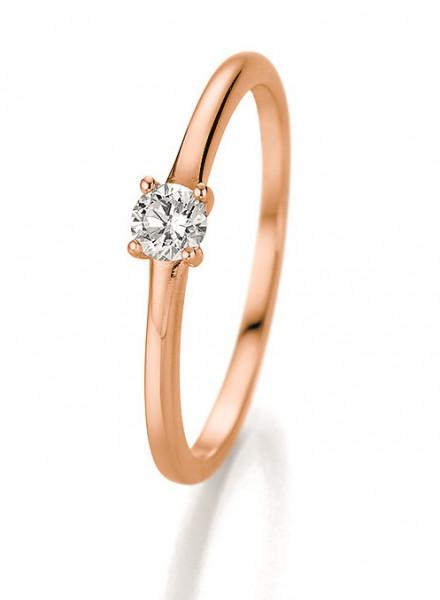 Verlobungsring 585 Rosegold 0,20 ct. Brillant