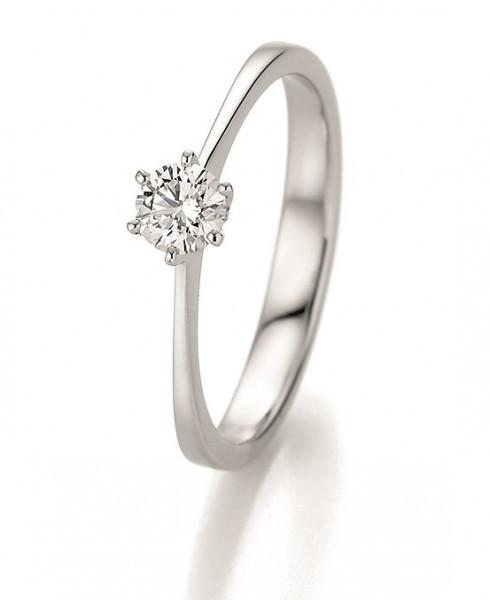 Verlobungsring 585 Weissgold 0,33 ct. Brillant