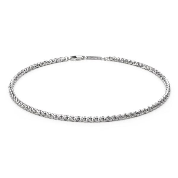 Halskette mit Zopfmuster 4,0 mm stark aus Edelstahl