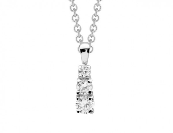 Halskette mit länglichem Zirkonia Anhänger - Nana Kay