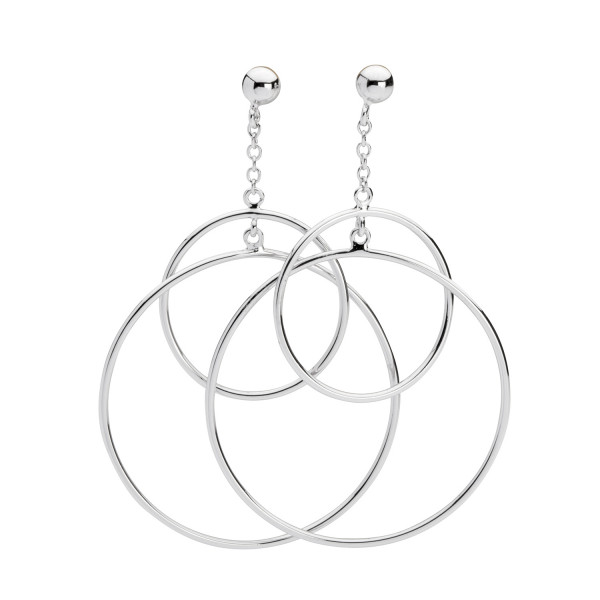 Ohrstecker zwei Ringe silber Anhänger - Silver Trends