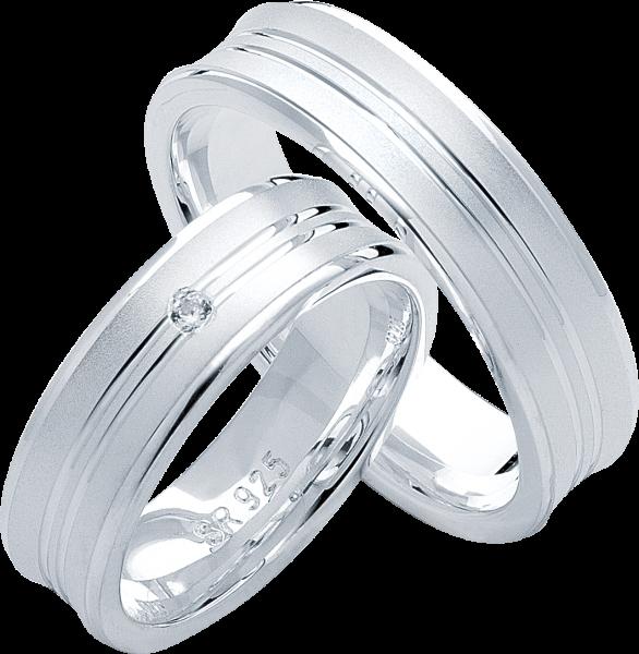 Freundschaftsringe 925 Silber mit Zirkonia S26