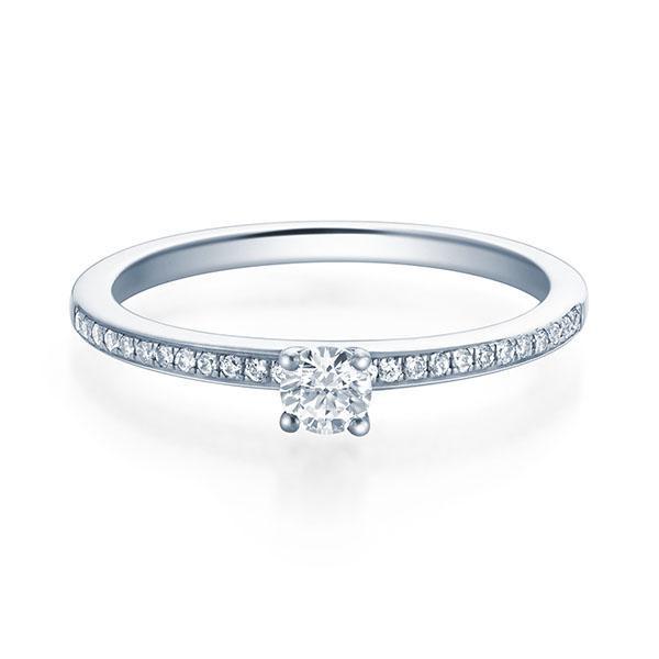 Verlobungsring Adele 950 Platin ges. 0,20 ct. Brillanten