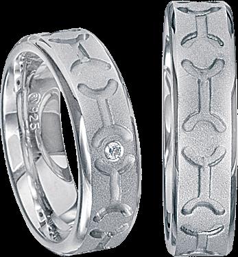 Freundschaftsringe 925 Silber mit echten Brillanten S64