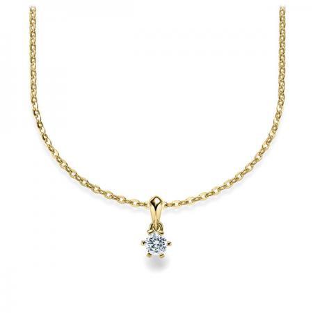Halskette 585 Gelbgold mit Brillant 0,10 Karat