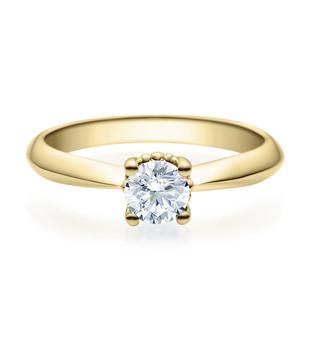 Verlobungsring 585 Gold - 0,5 Karat Brillant in 4-Krappenfassung