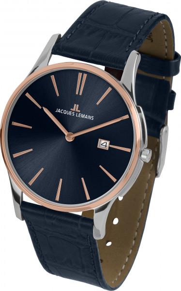 Jacques Lemans Uhr 36 mm 1-1937G blau rose