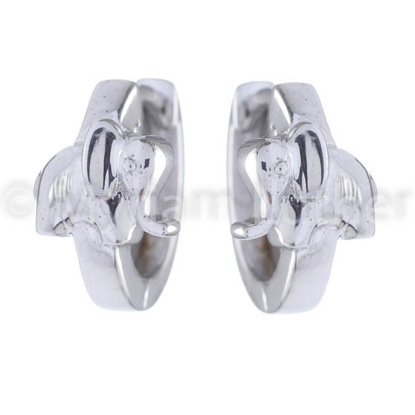 Kinder Ohrringe Elefanten 925 Silber rhodiniert