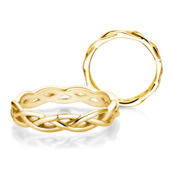 Verlobungsring 585 Gold in Zopfmuster-Optik
