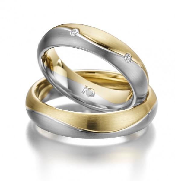 Trauringe 585 Gelbgold Graugold Eheringe Hochzeitsringe