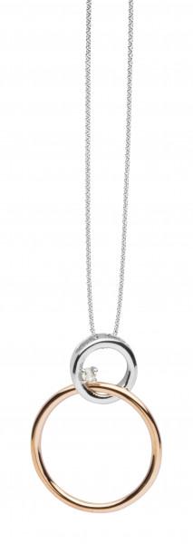 Halskette mit Anhänger bewegliche Ringe - Nana Kay