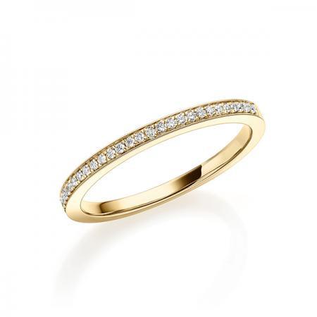 Verlobungsring 750 Gold - 0,09 Karat Brillanten halb ausgefasst