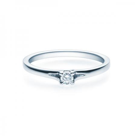 Verlobungsring Jill 925 Silber - 0,1 Karat Brillant in 4-Krappenfassung