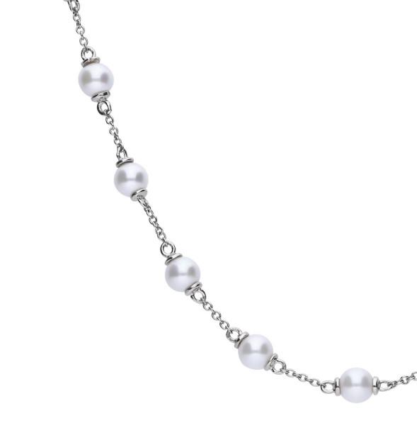 Halskette von Diamonfire aus Silber mit Perlen besetzt