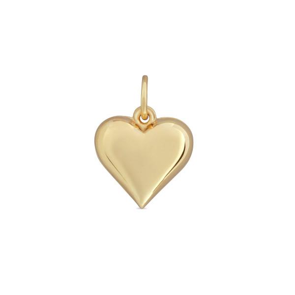 Kinder Anhänger 333 Gold Herz poliert - gewölbt 16 mm lang