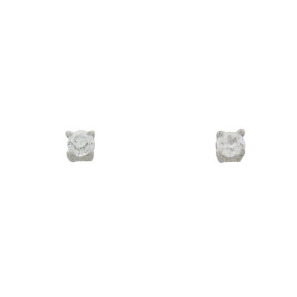 Ohrstecker 925 Silber 4er Krappenfassung 4 mm groß