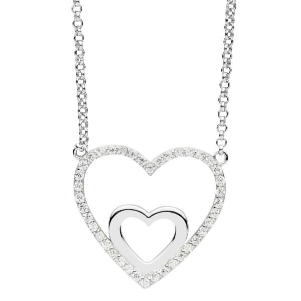 Halskette mit Anhänger Herz in Herz - Nana Kay