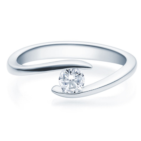 Verlobungsring Twisty 950 Platin 0,25 ct. Brillant