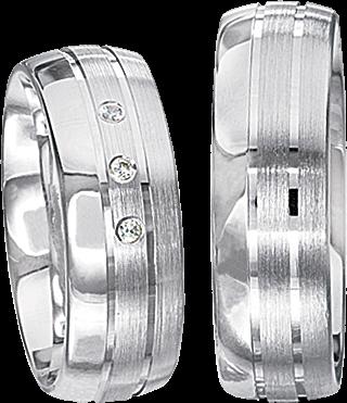 Freundschaftsringe 925 Silber mit echten Brillanten S55