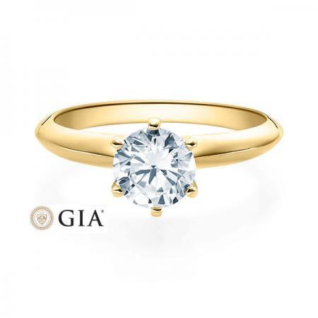 Verlobungsring Daphne 585 Gelbgold ges. 1 ct. Brillanten