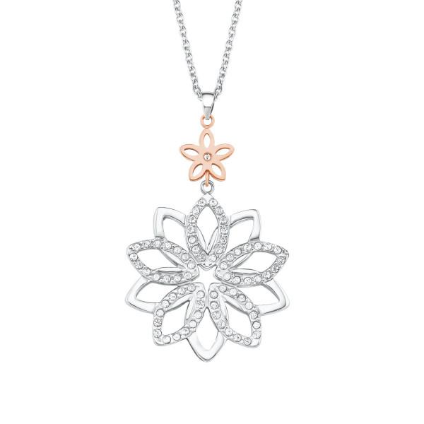 Halskette mit Anhänger zwei Blumen von s. Oliver