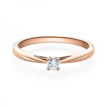 Verlobungsring Emilia 750 Rotgold ges. 0,1 ct. Brillanten