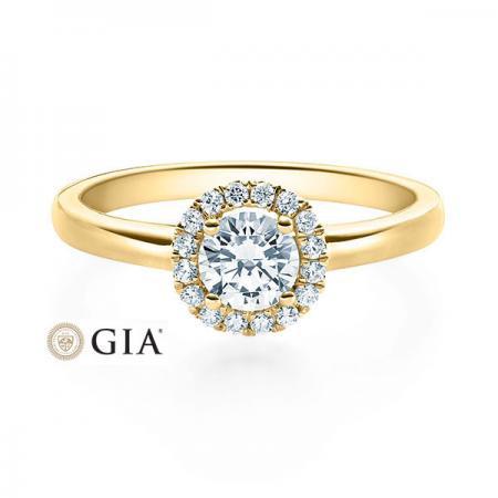 Verlobungsring Brenda 750 Gelbgold ges. 0,49 ct. Brillanten