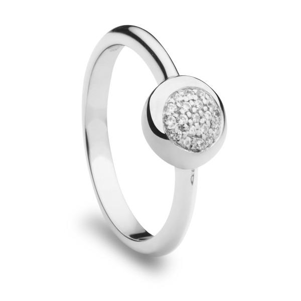 Damen Ring mit Zirkonia Steinchen Very Petite 925 Sterling Silber rhodiniert - ST1154 Silver Trends
