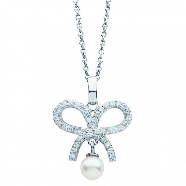 Halskette mit Schleifen Anhänger und Perle - Nana Kay