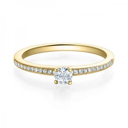 Verlobungsring Adele 750 Gelbgold ges. 0,25 ct. Brillanten