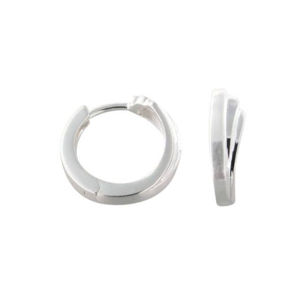 Creolen 925 Silber drei Linien hochglanz poliert
