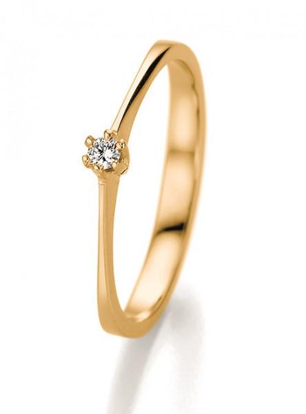 Verlobungsring 585 Gelbgold 0,06 ct. Brillant-