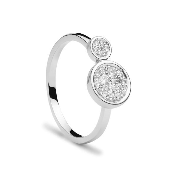 Damen Ring mit Zirkonia Steinchen Smart Casual 925 Sterling Silber rhodiniert - ST1487 von Nana Kay