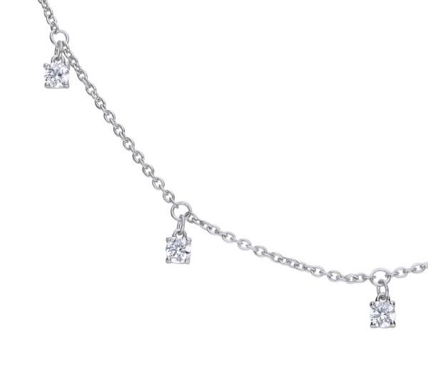 Halskette von Diamonfire mit Zirkonia Anhänger