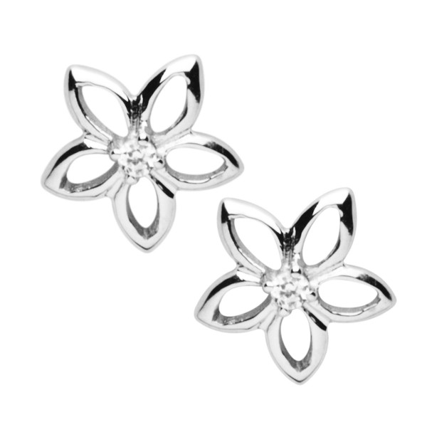 Ohrstecker Blume 925 Silber - Silver Trends