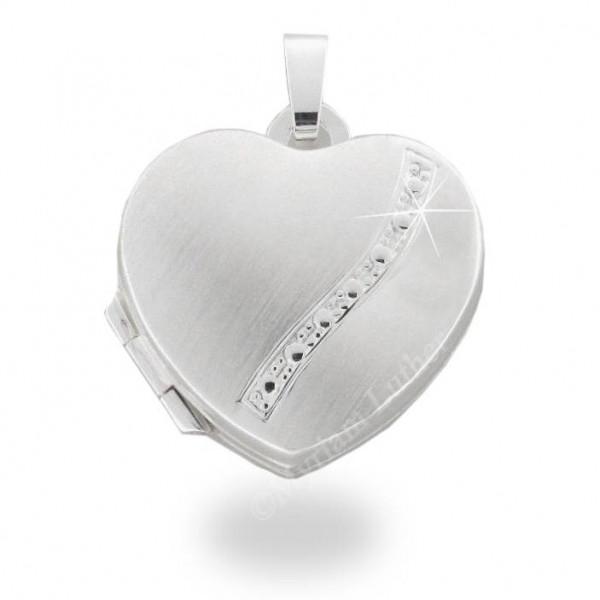 Medaillon 925 Silber 17 x 18 mm Herz