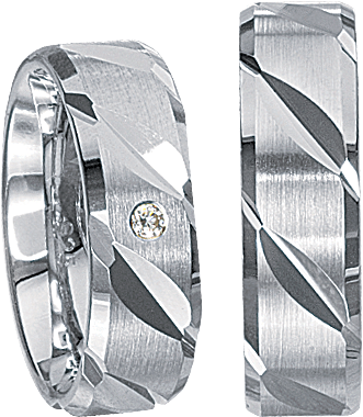 Freundschaftsringe 925 Silber mit echten Brillanten S63