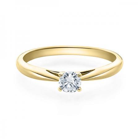 Verlobungsring Emilia 750 Gelbgold ges. 0,25 ct. Brillanten